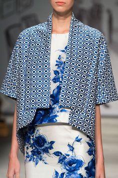 Lela Rose Spring 2015 -- I like the blue rose print