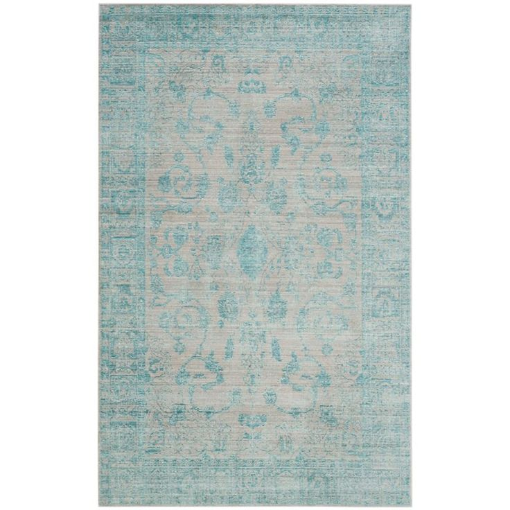 Lowest price online on all Safavieh Valencia 8' X 10' Power Loomed Polyester Rug in Blue - VAL103B-8