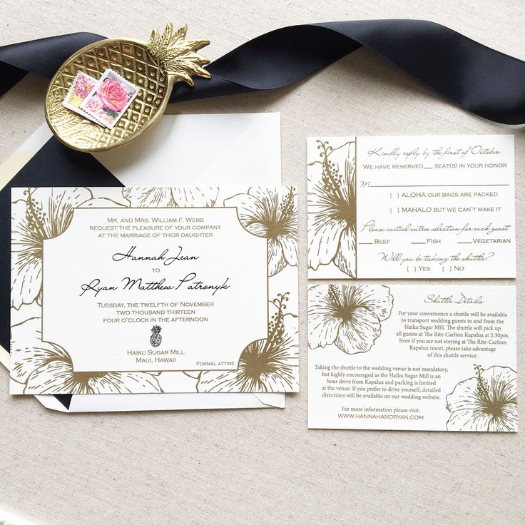 not on the high street winter wedding invitations%0A Hawaiian Wedding Invitation