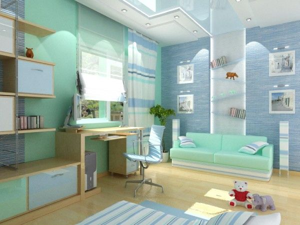 Bright and Modern Study Desk Design Ideas in Kids Bedrooms (awesome)