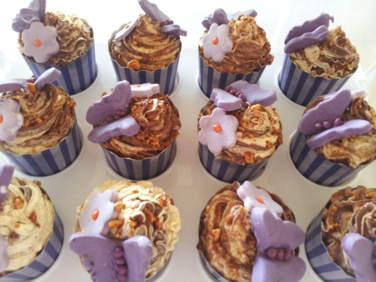 bailey cupcakes and hazelnut buttercream