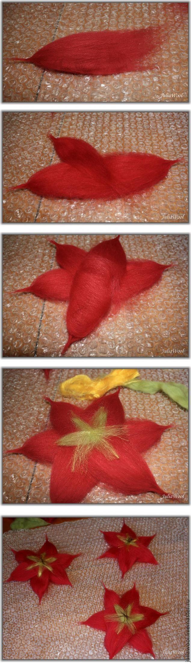 В своем первом мастер-классе (критика и советы приветствуются) я хотела бы рассказать, как свалять один из самых любимых весенних цветов — тюльпан. Весь процесс будет расписан очень подробно, с азов, чтобы любой начиначинающий мог легко всё представить, понять и повторить. Для работы нам понадобится: - шерсть (австралийский меринос 18 микрон) красного, зеленого цветов (и при желании их оттенков)…