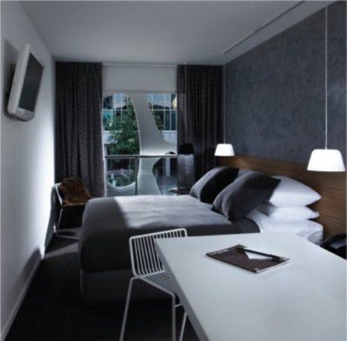 18 best images about small hotel rooms on pinterest grey for Small hotel room interior design