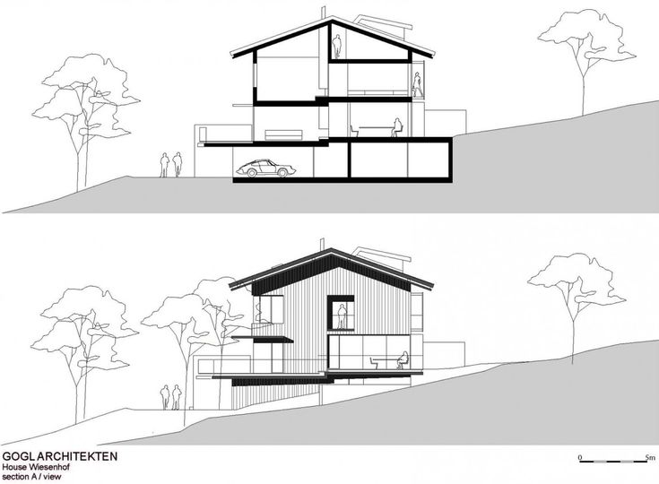 Architecture Contemporary House Design With Nature Surrounding Haus Wiesenhof By Gogl Architekten Skecth Of Wiensenhof Details