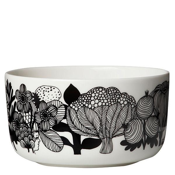 Marimekko's Oiva - Siirtolapuutarha bowl 5 dl, black-white