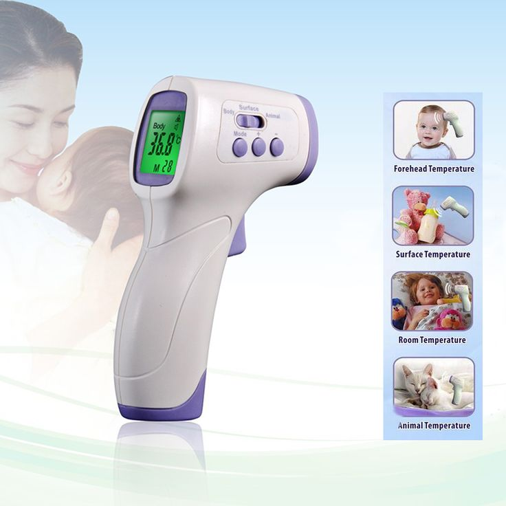 Digital Thermometer Baby Adult Non Contact Infrared Thermometer Body Temperature Care Measure Tools Fever Reminder LCD Display