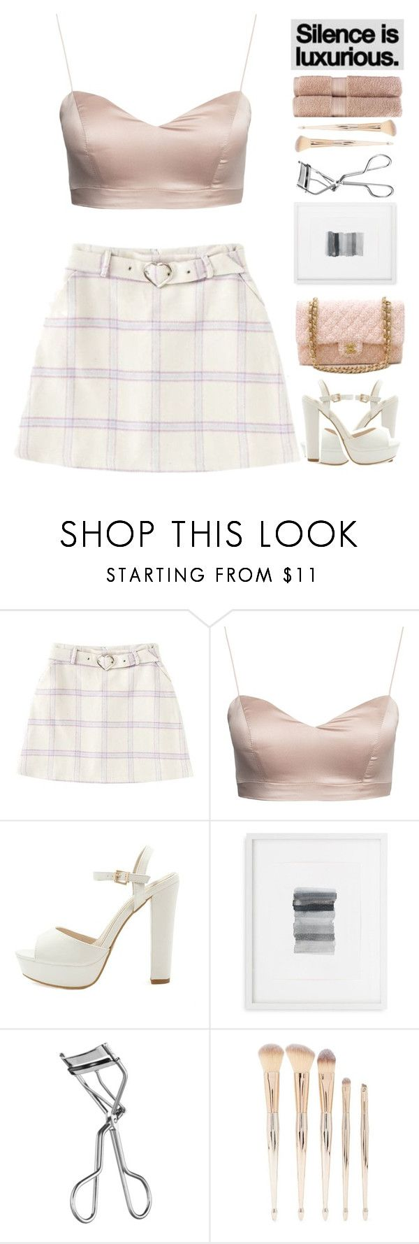 """""""76. you just want attention, you don't want my heart"""" by xo-ashlyn-ox ❤ liked on Polyvore featuring Chanel, Mitchell Gold + Bob Williams, Lancôme, Forever 21 and Christy"""