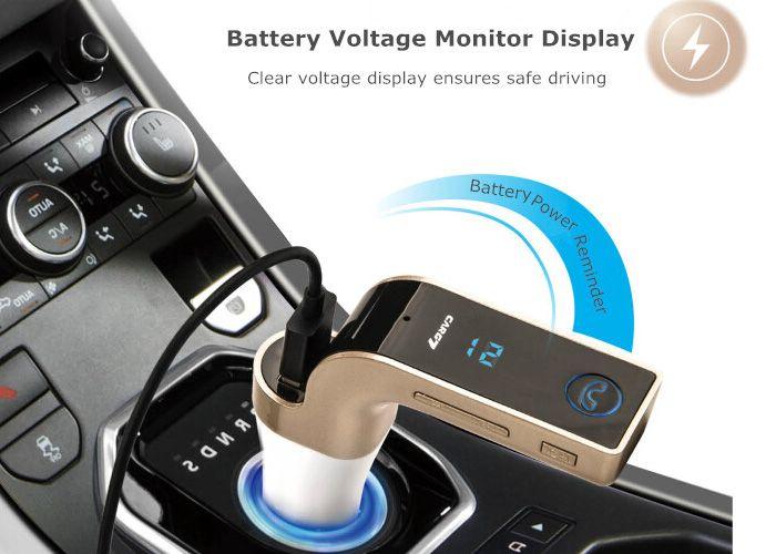 Πομπός Αυτοκινήτου Bluetooth Για Μετάδοση Μουσικής Και Φορτιστή