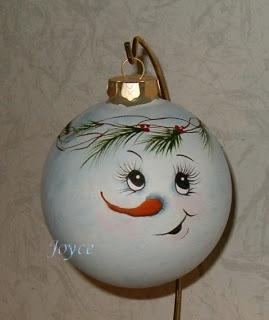 Joyce's Tole Painting: Snowman Ornaments