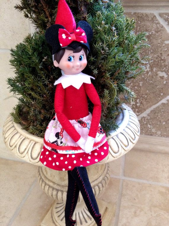 Elf On The Shelfgirl Minnie Mouse With Ears Bow By