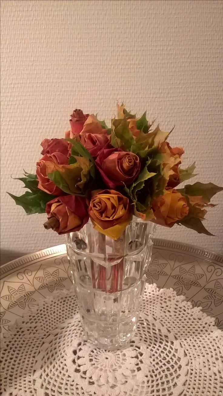 Vaahteranlehti ruusukimppu