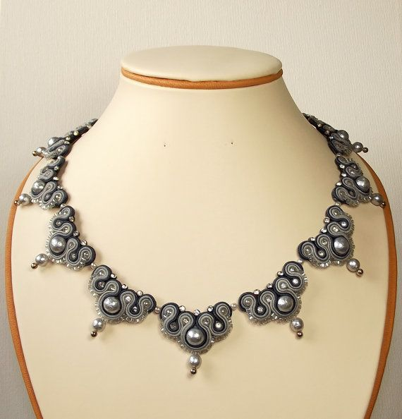 Idea para Dianita Soutache Jewelry. Soutache necklace