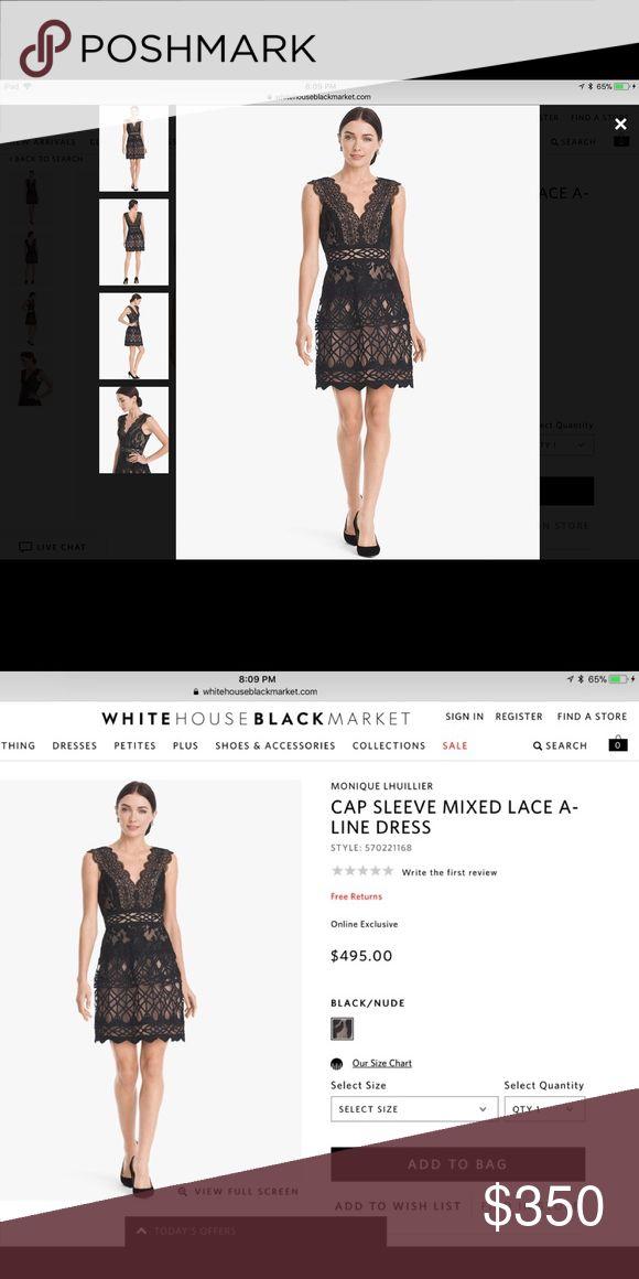 Monique Llullier White House Black Market Only worn once-in excellent condition.  Size 6 true to fit. Monique Lhuillier Dresses Mini