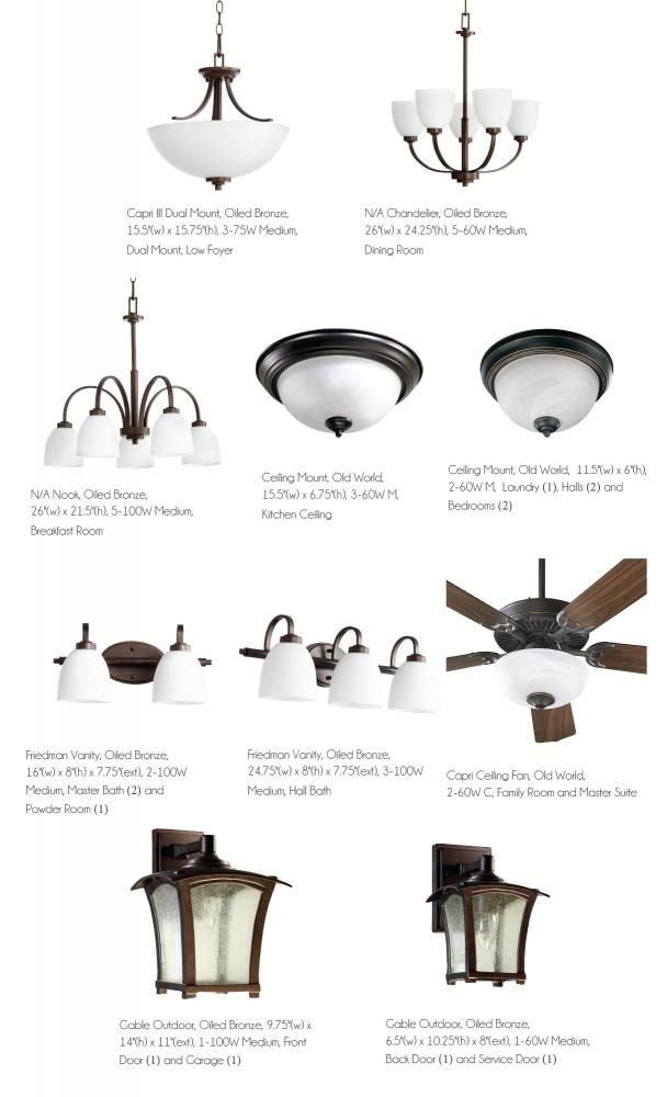 Elite lighting package in oiled bronze with low foyer light fixture option. $1299.  sc 1 st  Pinterest & 10 best Home Lighting Packages images on Pinterest | Ceiling fans ... azcodes.com