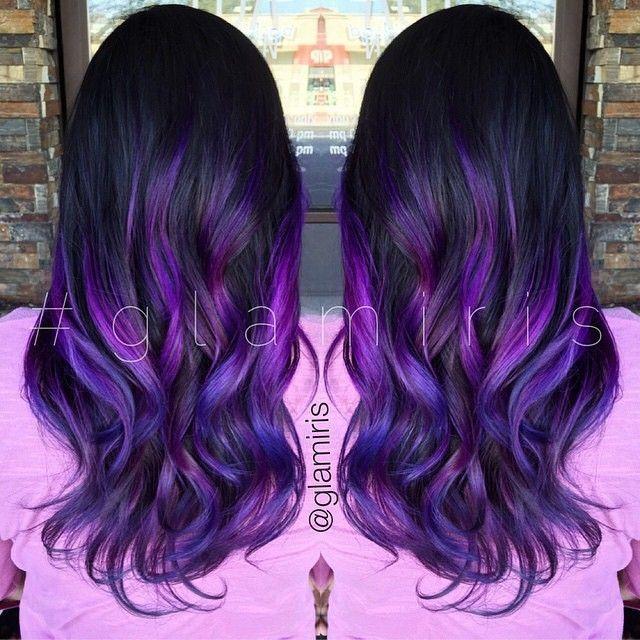 11 Best Dark Purple Hair Color Ideas Brunette Hair Color Dark Purple Hair Color Dark Purple Hair