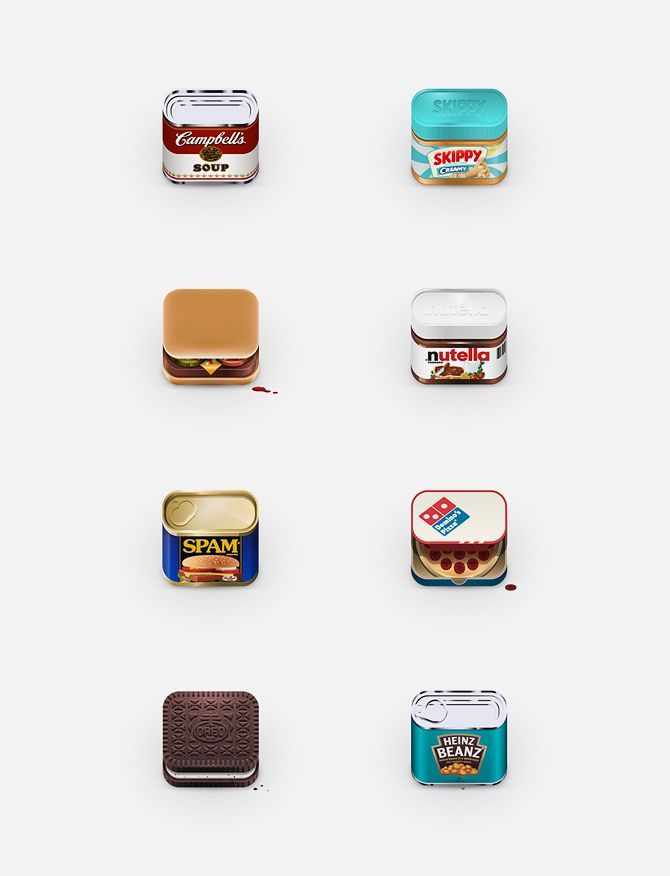 food icon design by Julian Burford