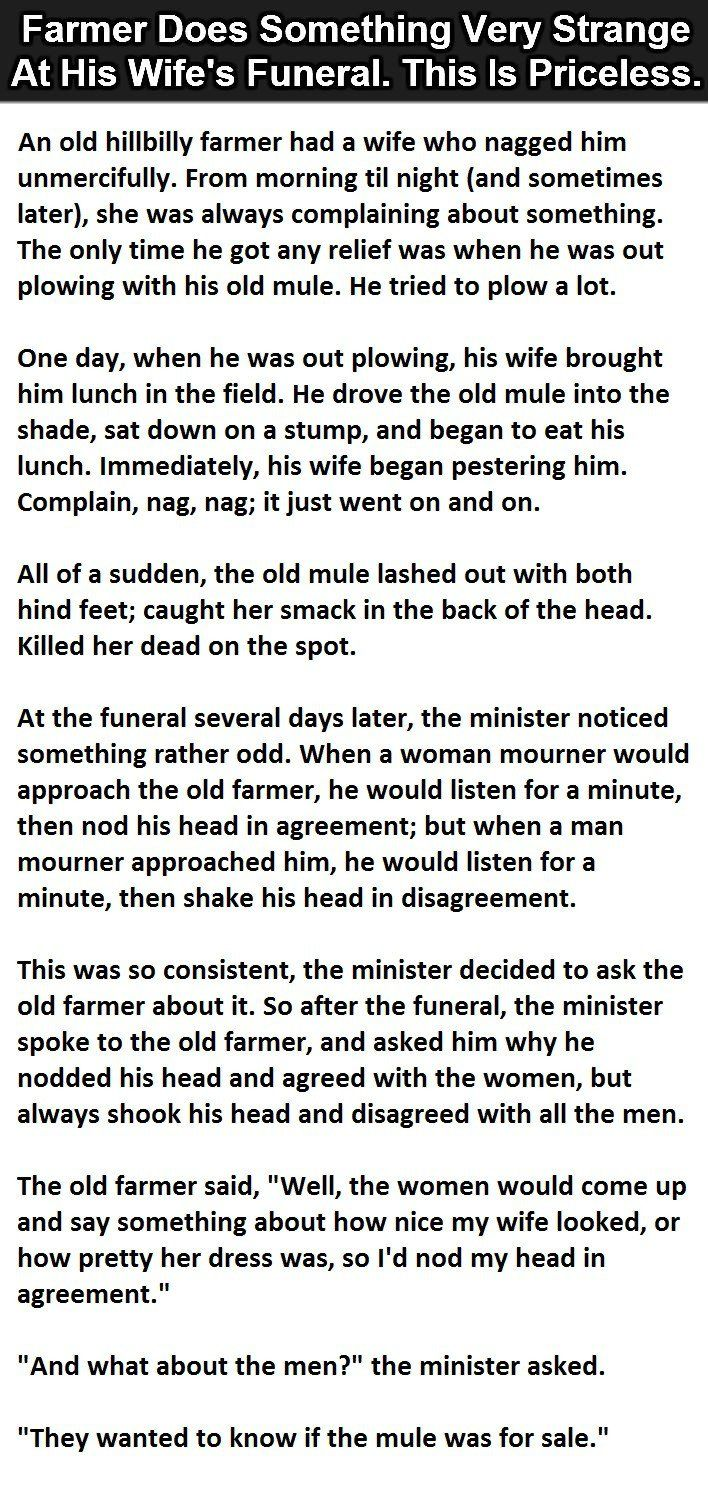 Uncategorized Lil Johnny Jokes 53 best little johnny jokes images on pinterest pictures a farmer did something very strange at his wifes funeral this is priceless funny story lol quote quotes funny