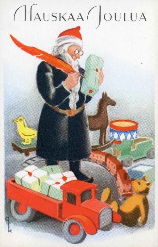 Hauskaa Joulua #joulu #joulukortit #joulupukki #lelut #christmascards