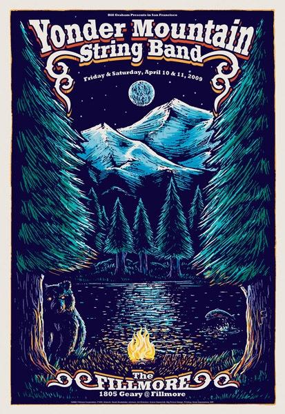 Yonder Mountain String Band - Fillmore SF 2009 - by Derek Johnson