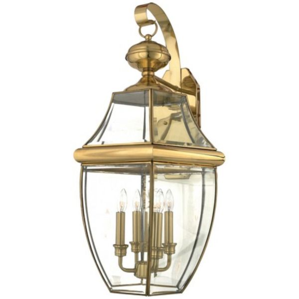Quoizel Quoizel NY8339B 4 Light Outdoor Wall Lantern Polished Brass
