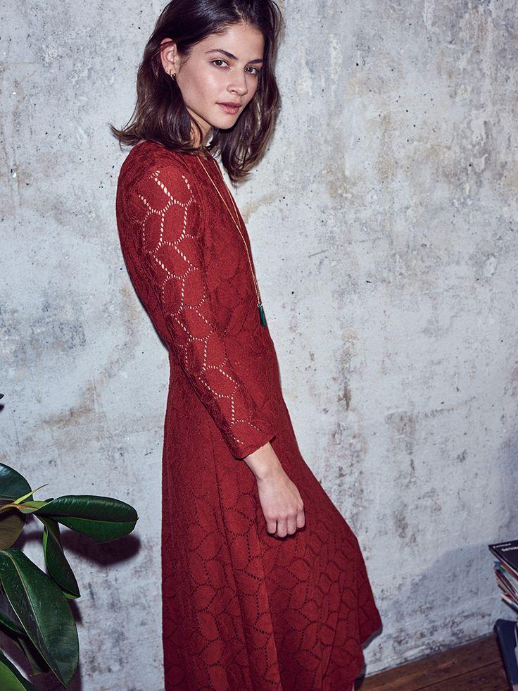http://www.esprit.com/i#ESPRIT #Spring #Lookbook #lacedress #red #retro #romantic #edgy