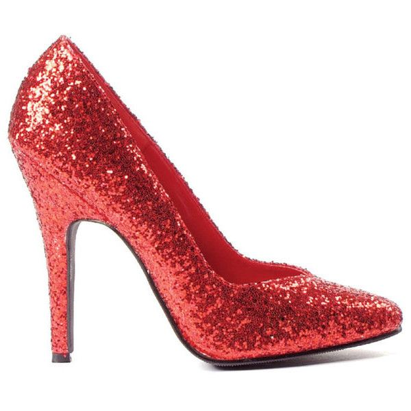 Women's Red Glitter Pumps ($28) ❤ liked on Polyvore featuring shoes, pumps, sexy red pumps, sexy shoes, sexy red shoes, sexy wide shoes and red glitter pumps