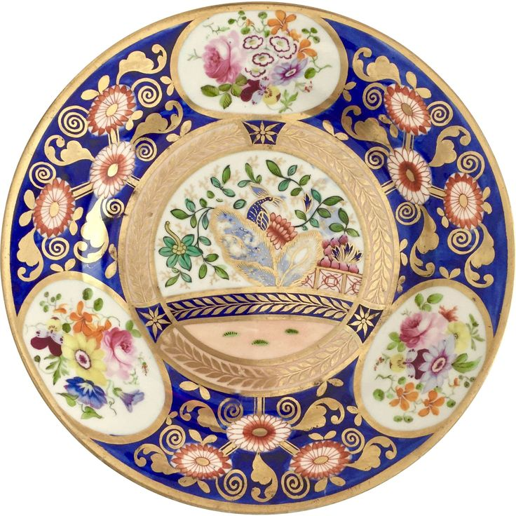 Rare Swansea plate, Japan pattern with peacock in garden