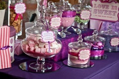 Pink and purple candy buffet