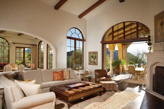 glamorous mediterranean style living room decor | 15 Exceptionally Luxury Mediterranean Living Room Designs ...