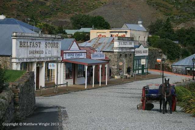 A photo I took of Cromwell's historic district - echoes of New Zealand's wild, wild west days.