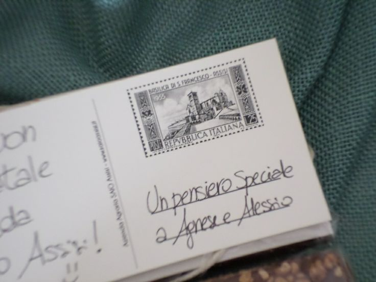Look at the stamp of the SAIO Chocolate Greetings card....The basilica of S. Francis...A stamp from 1955!