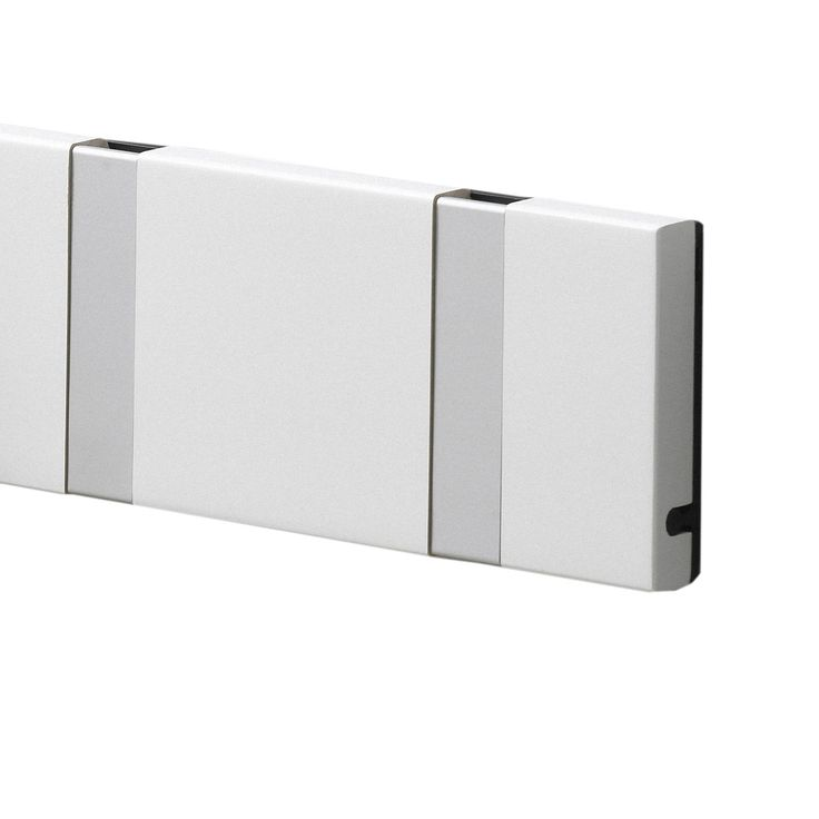 LoCa - Knax 4 Garderobenleiste, weiß Weiß T:1 H:7 B:39