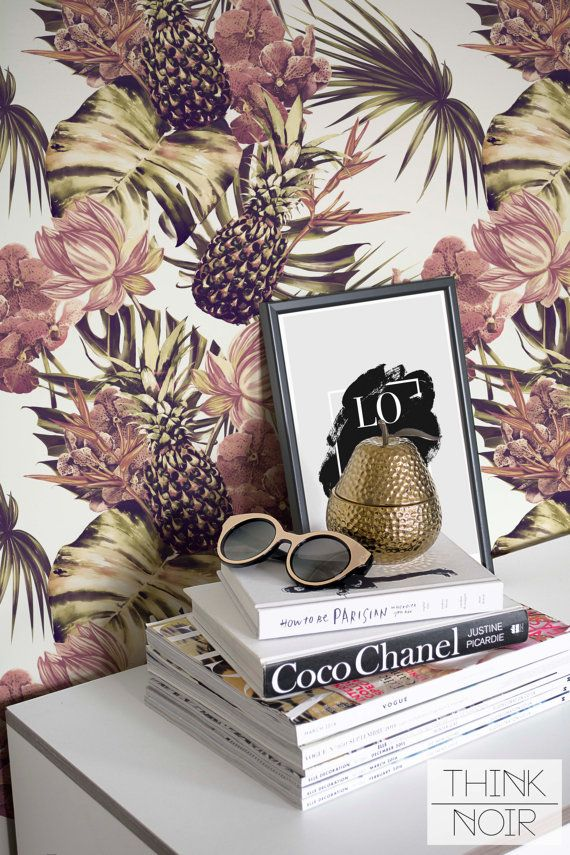20 % OFF Tropical Removable Wallpaper / Self by ThinkNoirWallpaper