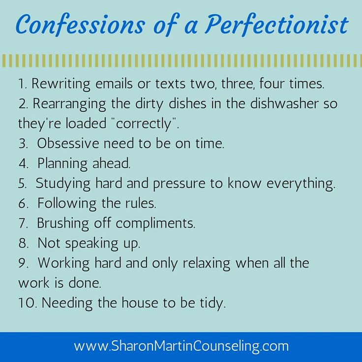 Confessions of a Perfectionist by Sharon Martin, LCSW #perfectionist