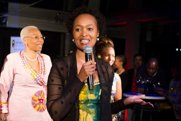 Jackie Motsepe founder, giving a vote of thanks at the Morongwa House of African Fashion Launch. www.mhafricanfashion.co.za