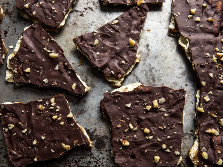 This salty and sweet bark is super easy to make and more than mildly addictive. Most traditional recipes use semi-sweet chocolate chips, but if you have access to really good dark chocolate, it will take the recipe to the next level.