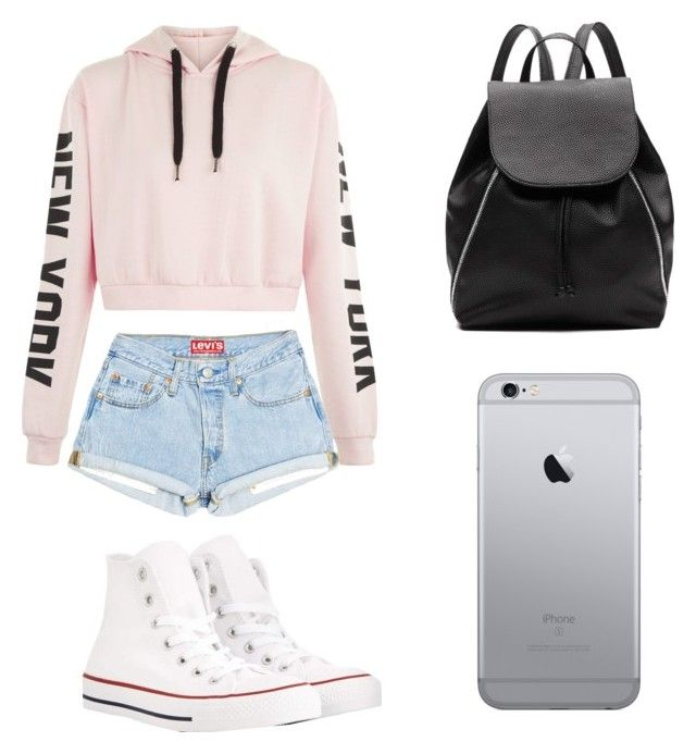 """Idk"" by clairekpopper on Polyvore featuring Converse and Witchery"