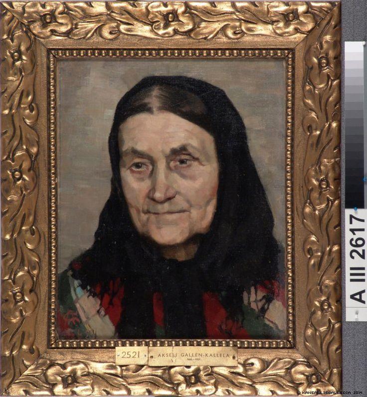 Akseli Gallen-Kallela (1861-1931) Maalaiseukko - Old peasant woman 1884 - Finland - Reminds me of Grandma A.