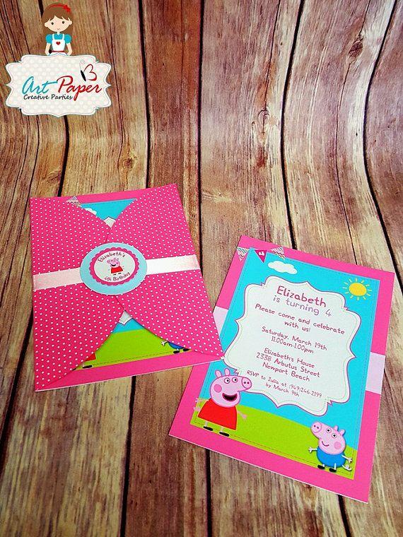 10 Peppa Pig invitaciones invitaciones creativas por ...