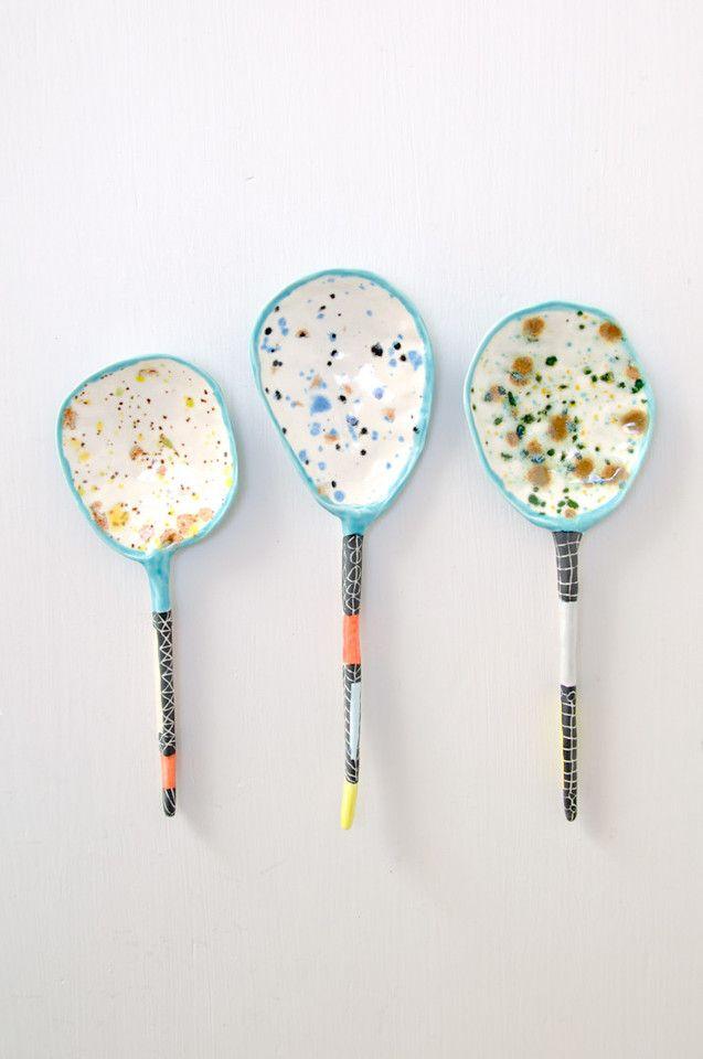 Ceramic Spoon - Colored