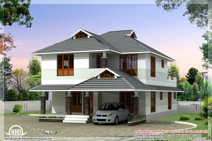 1760 sqfeet beautiful 4 bedroom house plan curtains designs ideaskeralakerala home designs kerela homes pinterest curtain designs - Beautiful House Plans