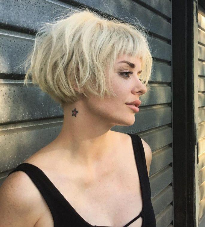 Platinum Blonde Short Bob Haircuts Hairstyles For Women Short Bob Haircuts Short Blonde Hair Hair Styles