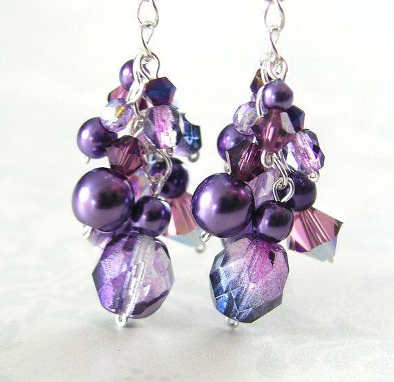Amethyst Purple Earrings Sterling Silver Plum By Dorotajewelry 30 00