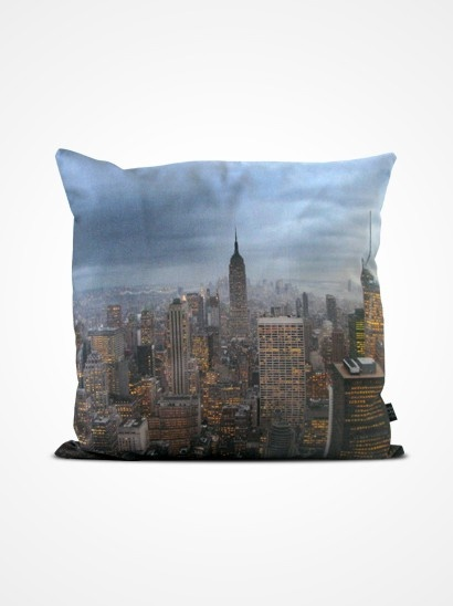 PLACES pillow slipcover by HOWAREYOU with Nicklaus Blom