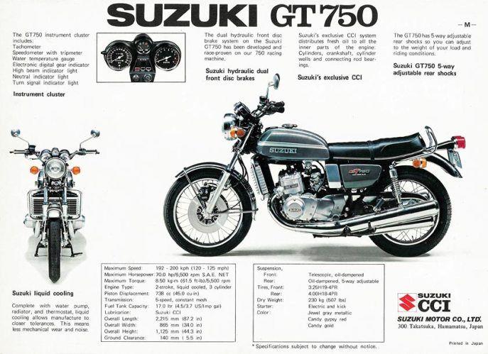 Suzuki GT750 ad. (1975)
