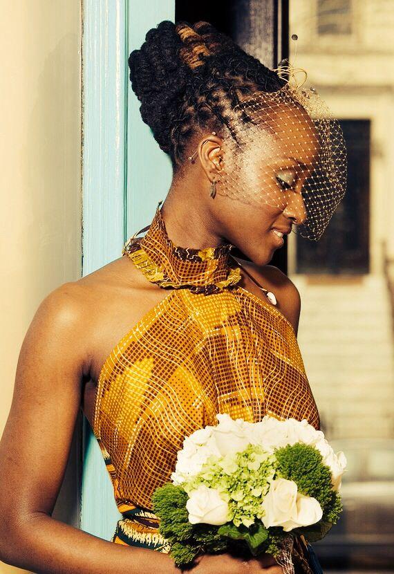 Styled Dreadlocks Wedding Hair
