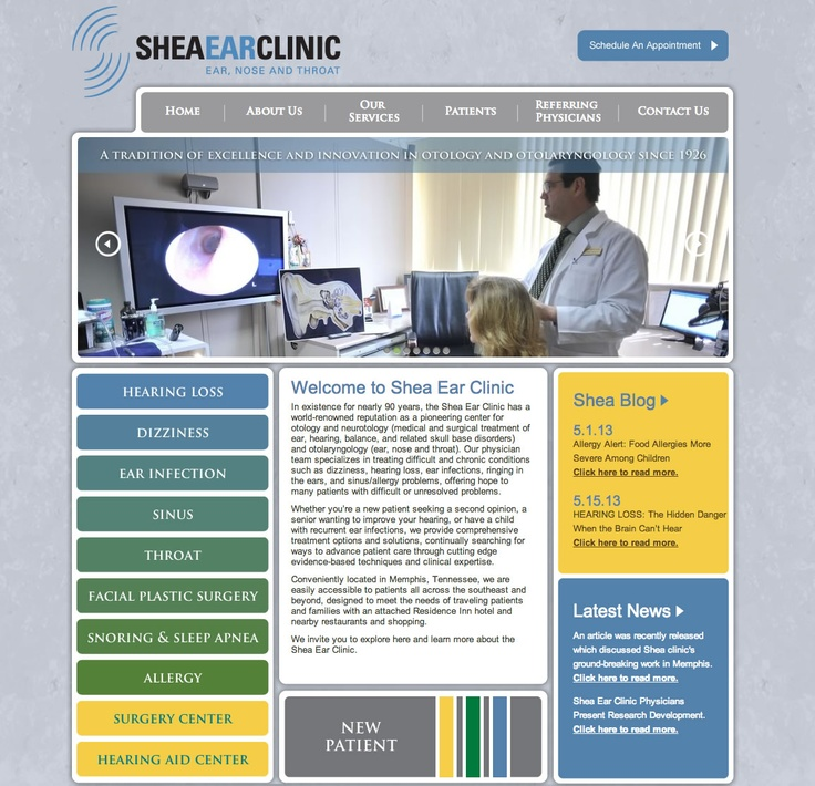Shea Ear Clinic | Ear, Nose and Throat Specialists in Memphis, TN | ENT Doctors | Otologists | Neurotologists    The Shea Ear Clinic is a world renowned ear clinic, famous for the treatment of chronic ear diseases and hearing disorders.