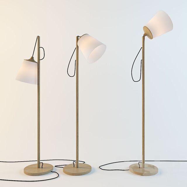 3d models: Floor lamp - Muuto PULL / Whatswhat