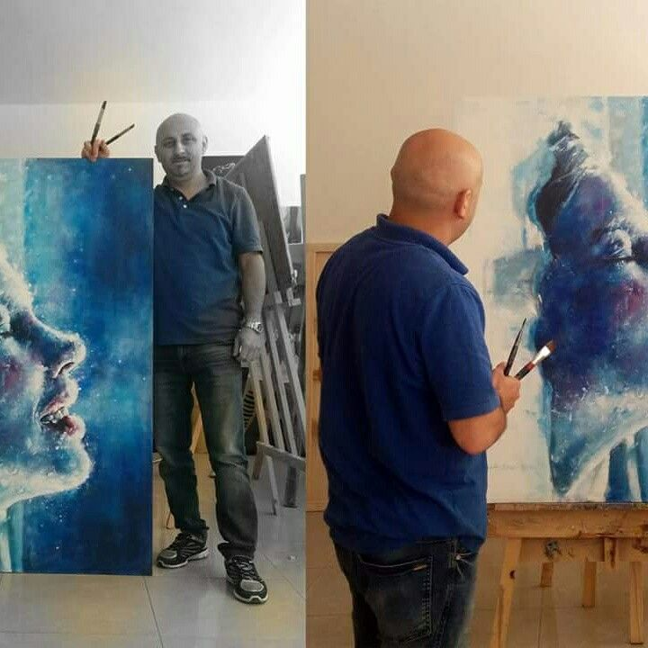 by:Alaudin Elezi    Category: ? Media: Acrylics on Canvas  Made: 2016 Original size: 150cmx120cm