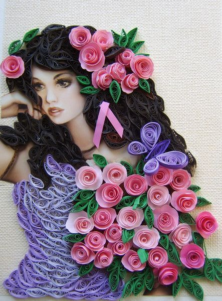 quilling art: female characters in the wonderful paper art - crafts ideas - crafts for kids
